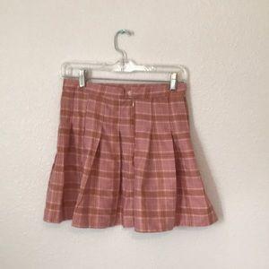 Skirts - New and Unused Pink Plaid Pleated Skirt